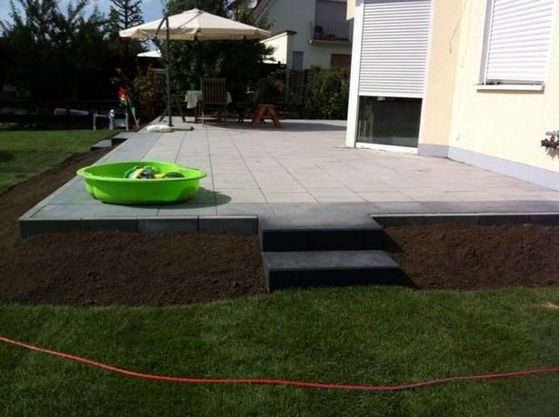 Garten Hoher Als Terrasse
