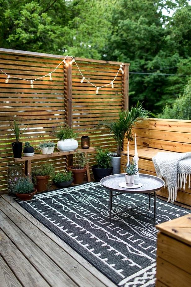 Gemütliche terrasse gestalten