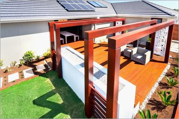 Kies Terrasse Bauen