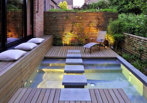 Moderne Terrassengestaltung Mit Wasser