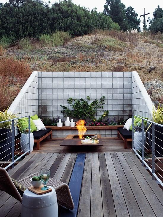 Terrassenboden Verschonern