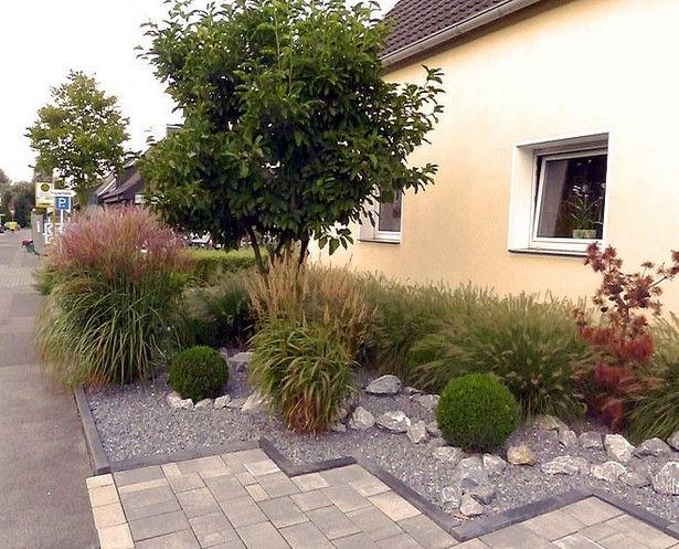 Vorgarten mit gr ser gestalten for Vorgartengestaltung modern