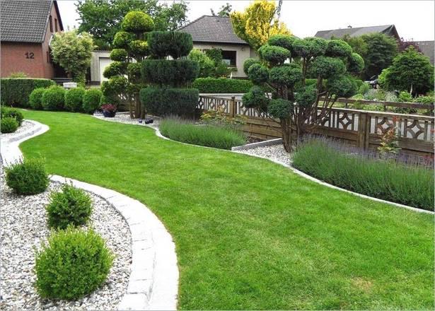Vorgarten mit gräsern