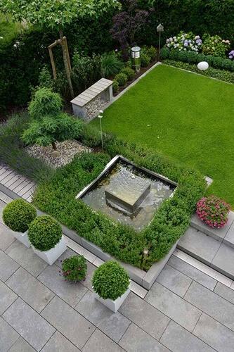 Kleiner Garten Als Wohnraum: Terrasse Tiefer Als Garten