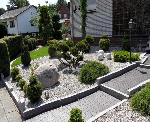 Bilder vorgarten mit steinen for Gartengestaltung rhododendron