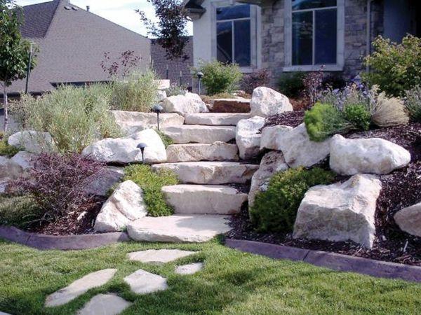 Garten mit steinen