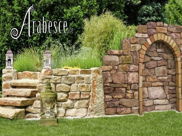 Garten Trockenmauer