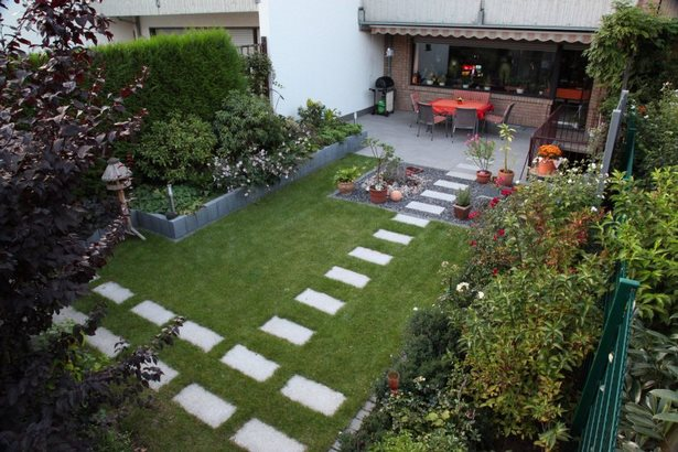 Gartengestaltung für reihenhäuser