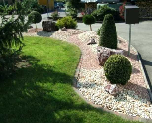 Gartengestaltung kies