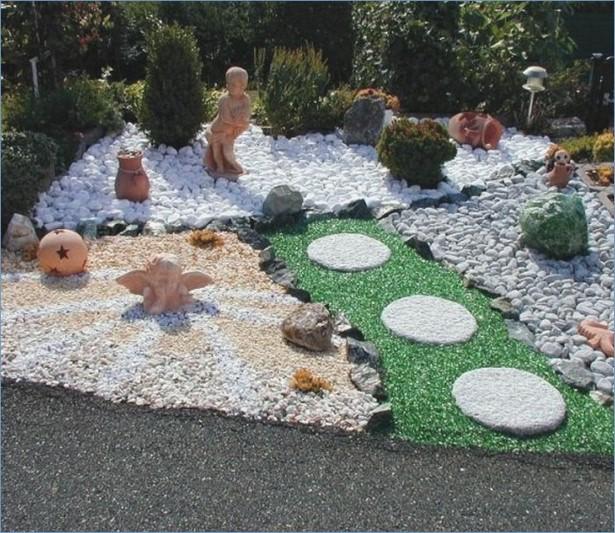 Gartengestaltung Mit Steinen Und Kies