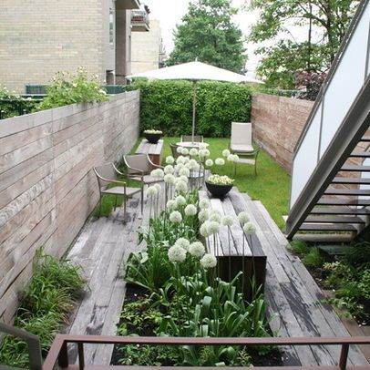 Kleiner reihenhausgarten