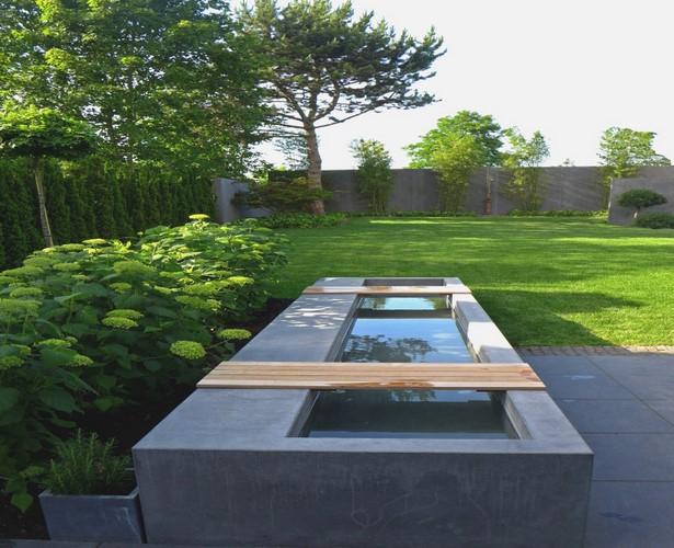 Moderne Wasserbecken Gartengestaltung