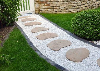 Steinplatten Garten