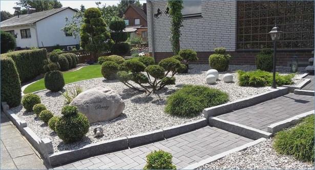 Vorgarten Mit Kies Gestalten Pflanzen