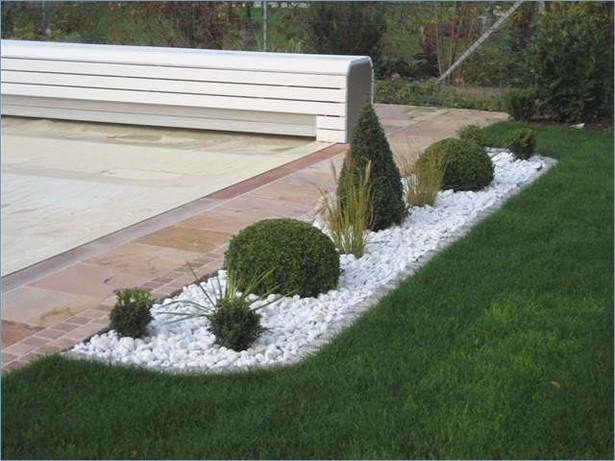 Gartengestaltung Mit Steinen Und Gräsern Modern