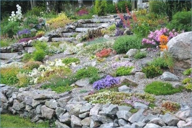 Steingarten bilder hang for Garten gestalten hanglage