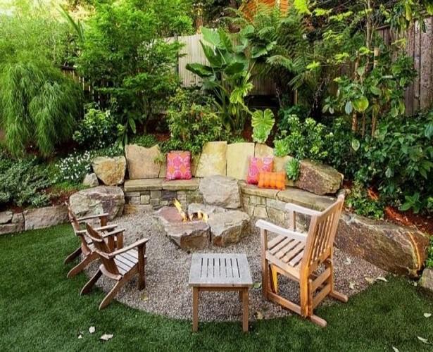 Garten sitzecke mauer