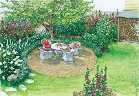 Romantischer sitzplatz garten for Gartengestaltung sitzecke sichtschutz