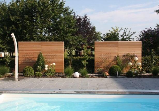 Sichtschutz f r pool - Gartengestaltungsideen mit gabionen ...